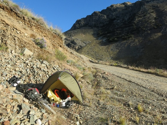 camping hillsiide